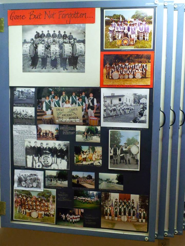 Interactive displays featuring current Fife and Drum corps and individuals