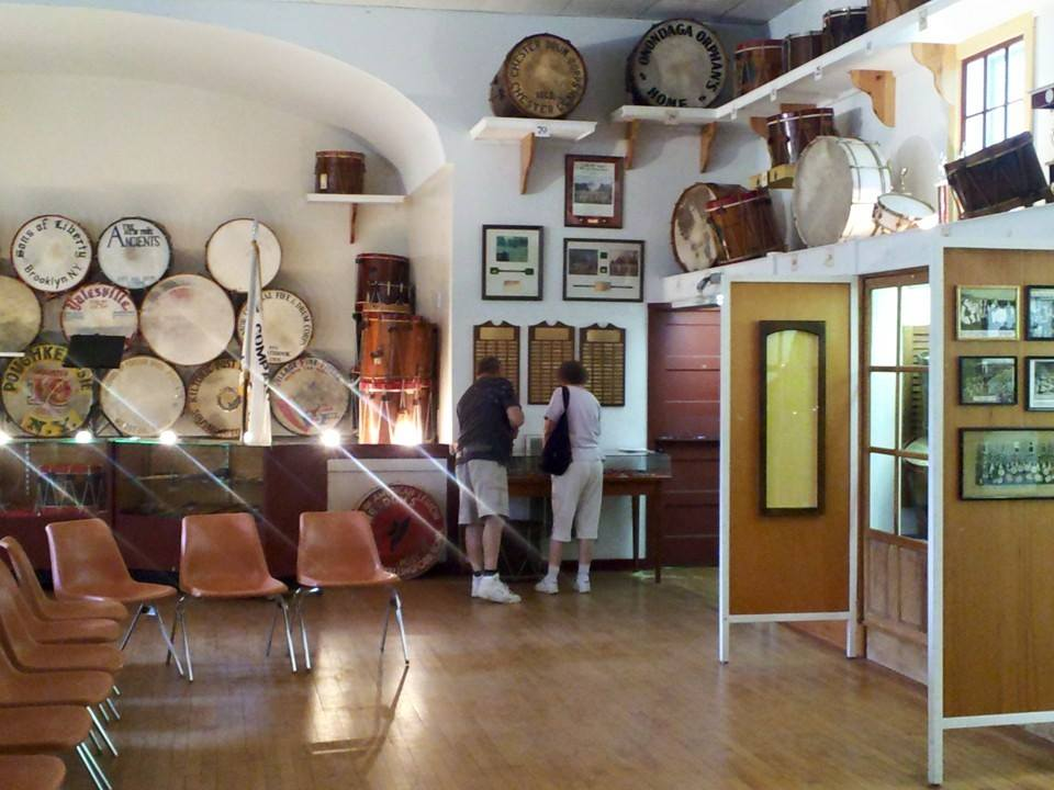 Exhibits in the Museum of Fife and Drum
