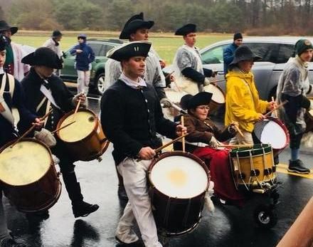 John McConnell and the Bristol County Fifes and Drums in the Isaac Davis Trail march