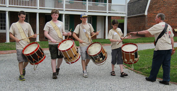 War of 1812 Fife and Drum Camp at Ft. McHenry 1