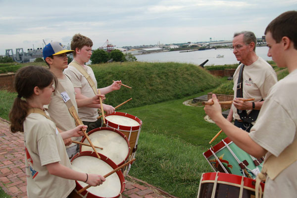 War of 1812 Fife and Drum Camp at Ft. McHenry 2