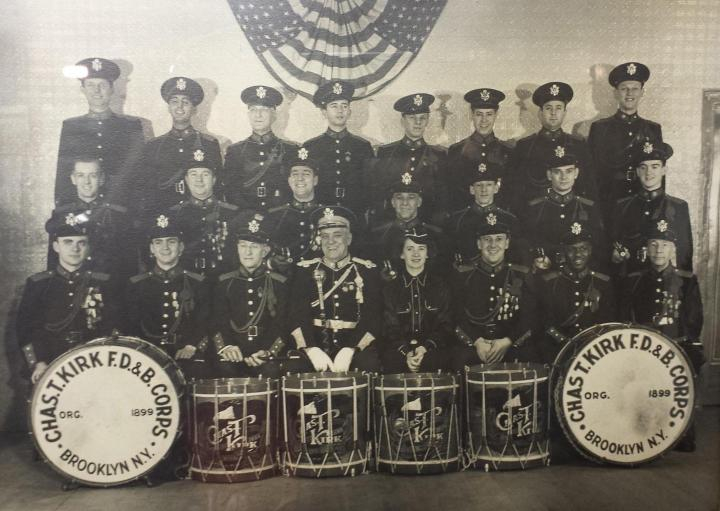 The Charles T Kirk Fife, Drum & Bugle Corps in 1951. Joe is in the top row, second from left.
