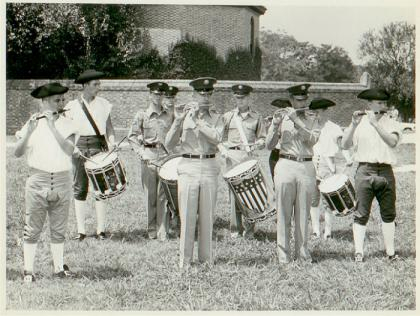 1960 -Old Guard in Williamsburg - George Carroll is first uniformed drummer on the left