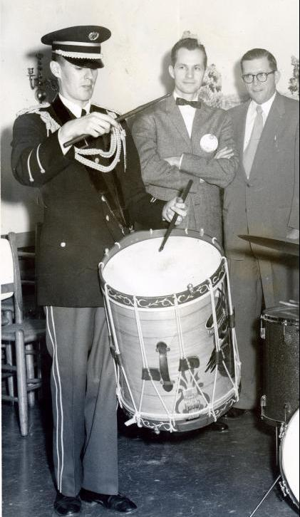1960 - George Carroll with Soistman drum